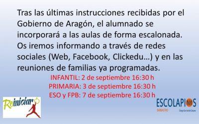 INFORMACIÓN PRINCIPIO DE CURSO 20-21