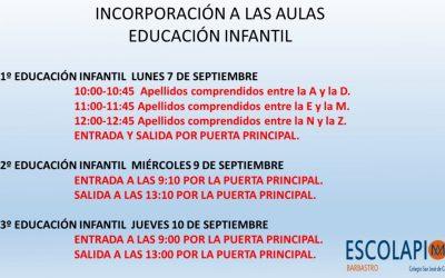 FECHAS INICIO DE CURSO 20-21