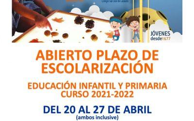 ESCOLARIZACIÓN EDUCACIÓN INFANTIL Y PRIMARIA