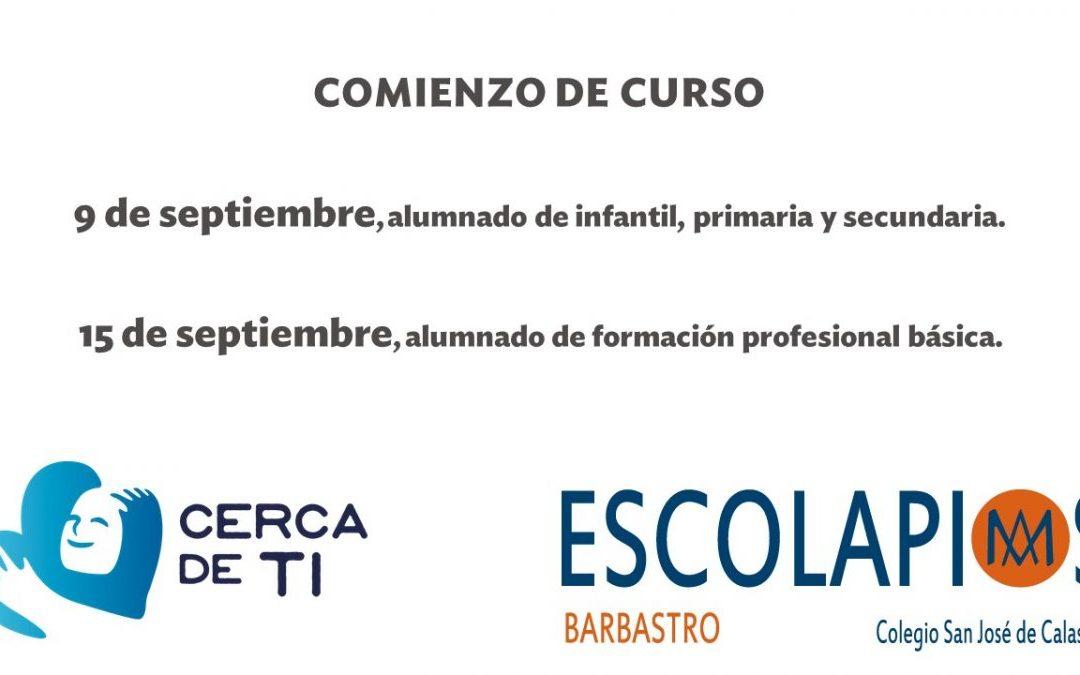 INFORMACIONES COMIENZO DE CURSO 21-22